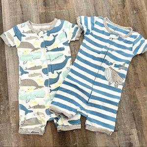 Carter's set of 2 one piece toddler jammies